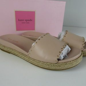 Kate Spade NY Studded Zeena Espadrille Flats NIB